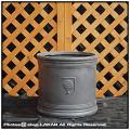 ファイバークレー 輸入鉢  軽量  樹脂鉢 大型 シンプル 円筒鉢  R04 NEWラウンドボックス