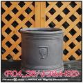 樹脂鉢 輸入鉢 大型 軽量 NEWラウンド シンプル 円筒鉢 R04 ファイバークレー