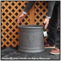輸入鉢 大型 軽量 NEWラウンドボックス シンプル 円筒鉢 R04 ファイバークレー 樹脂鉢