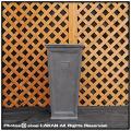 シンプル 角柱型鉢 大型 ニュープレーンスクエア ファイバークレー 輸入鉢 軽量 樹脂鉢
