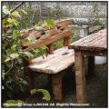 流木ベンチ インドネシア チーク製
