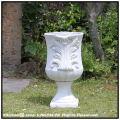 ホワイトガーデン 人気 カップ型 ガーデンオブジェ アンティーク仕様 石造 花鉢 石像 ヘルブカップ