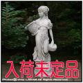 石像女の子 オーナメント 花かごを持つ少女 ガーデンオブジェ イタリア製彫像 オーナメント