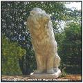 洋風庭園  動物 石像 座像 フェローチェ 門構え ガーデンオブジェ 一対 オーナメント ライオン