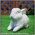 小動物 ウサギ うさぎ 兎 可愛い ガーデンオブジェ アニマル イタリア彫刻 石像オーナメント
