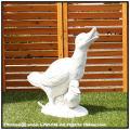 可愛い 石像オーナメント ガーデンオブジェ イタリア彫刻 あひる親子 石造オーナメント 5784 小動物 人工大理石