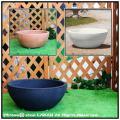 平鉢 ポリエチレン  軽量 浅型鉢 広口 樹脂製植木鉢 トリノ 質感 マルキオーロ