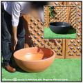 広口 トリノ60 マルキオーロ社   平型 ポリエステル樹脂製  浅型植木鉢 高級輸入樹脂植木鉢
