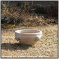 ガーデン 素朴  浅型 テラコッタ製  069  褐色 土 チュニジア オブジェ 手付鉢  ハンドメイド