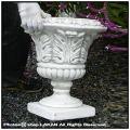 チェリオカップ型 プランター 石造 613 花鉢 彫刻 足付き ワイングラスタイプ