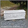 アッピア花鉢 石造花鉢 クラシックデザイン 横長鉢 人工大理石製 プランター イタリア製 洋風ガーデン