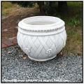 ノベシア花鉢 石造花鉢 取手付型 人工大理石 クラシックスタイル イタリア