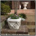 ベイオ花鉢 角型 イタリア 花彫柄 クラシック調 石造 花鉢 VR0692