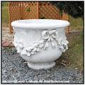 クラシック花鉢 ガーデン鉢 花束柄 イタリア輸入鉢 格調ある ファビオ鉢 石造花鉢 0694