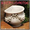 ルッビアーノ鉢 クラシックデザイン 石造花鉢 花鉢 壁置き鉢