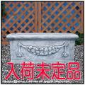 イタルガーデン社 石造花鉢 洋風ガーデン 人工大理石 優雅デザイン イタリア VR0853 横長鉢 ガーランドプランター