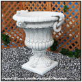 ベルサイユ花鉢 石造花鉢 広口 イタルガーデン社 洋風ガーデン 石造大理石鉢