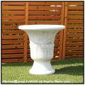 イタリア輸入鉢 足付 クラシックデザイン VR3176 ガーデン鉢 プレーン柄 スティミリアーノ花鉢 石造花鉢