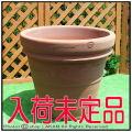 イタリアンテラコッタ  輸入植木鉢 トスカーナ 大型植木鉢 プレーンダブルリムポット 人気無地柄