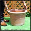 ハンドメイド 高級テラコッタ 輸入植木鉢 トスカーナ 大型植木鉢 トレビジャーネ社 アンティーク調シリンダーポット