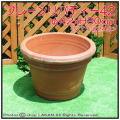 ハンドメイド 高級テラコッタ 無地柄 プレーンリバティー トスカーナ トレビジャーネ社 大型 陶器植木鉢