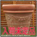 高級テラコッタ  トスカーナ クラシックガーランド 人気柄 輸入植木鉢 ハンドメイド 大型植木鉢