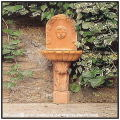 トスカーナ キューピッド  日本石産 壁泉 ハンドメイド Vaserie Trevigiane テラコッタ製