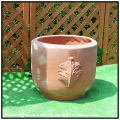 寒冷地仕様 芸術性 テラコッタ インプルネッタ 質感 高級 品質 木の葉模様の鉢 ハンドメイド 気品 耐久性