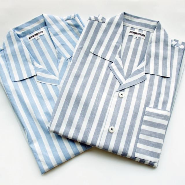 さらっと軽やかな先染ストライプパジャマ メンズ 長袖