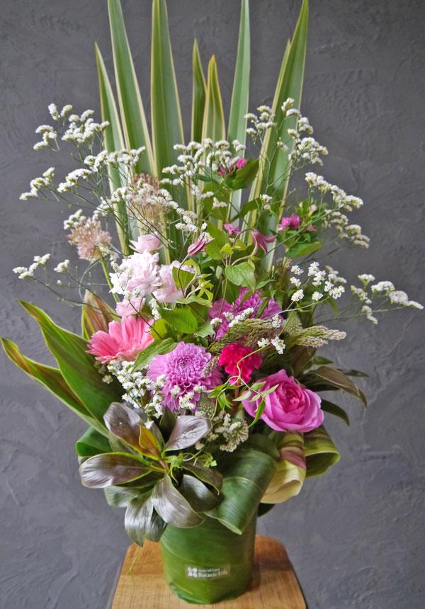 【お花おまかせ】トールアレンジメント《pink》