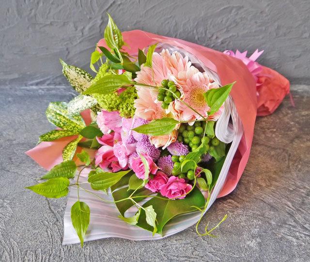 スタンダード花束《ピンク系》
