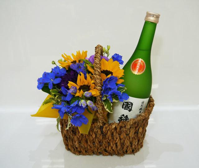 バスケットアレンジ+国稀酒造 特別純米酒 国稀