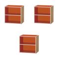 【送料無料!】【コロンシリーズ3個セット】連結可能なカラフル収納ボックス棚付(オレンジ)3個セット■CBT-001ORx3set