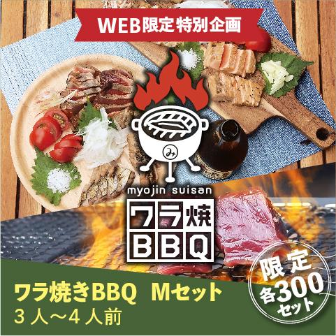 【WEB限定】ワラ焼きBBQ Mセット(3~4人前)〔WBB-2〕