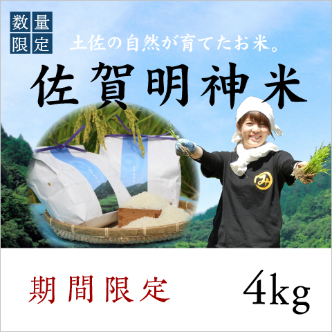 【期間限定】佐賀明神米4kg〔MF-4〕