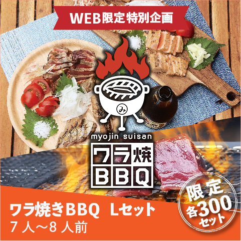【WEB限定】ワラ焼きBBQ Lセット(7~8人前)〔WBB-3〕