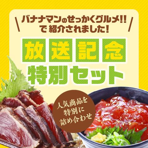 藁焼きかつおたたき1節・かつお丼4袋セット〔BN-1〕