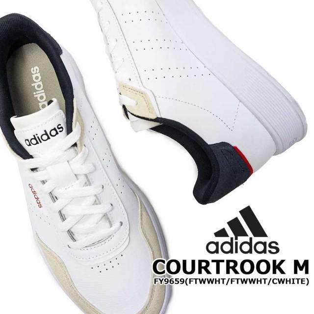 アディダス スニーカー メンズ コートロック M コートシューズ レザー パンチング クラシック adidas court rook m