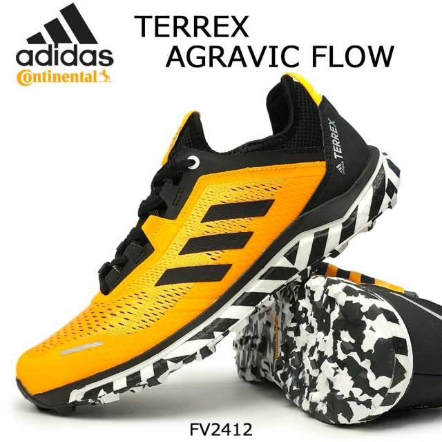 アディダス メンズ スニーカー テレックス アグラビック フロー ランニングシューズ トレイル アウトドア 軽量 グリップ adidas TERREX AGRAVIC FLOW