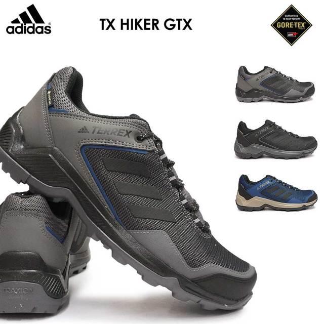 アディダス スニーカー メンズ テレックス ハイカーGTX 防水 ゴアテックス アウトドアシューズ トレッキング ハイキング 軽登山 adidas TX HIKER GTX BC0965 BC0968 BC0969