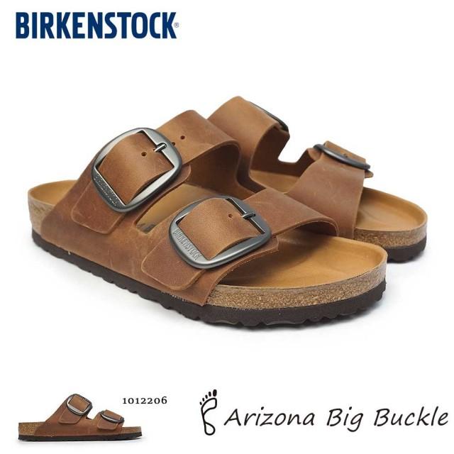 ビルケンシュトック メンズ サンダル アリゾナ ビッグバックル レギュラー幅 コニャック 1012206 ツーストラップサンダル オイルドレザー Birkenstock Arizona Big Buckle