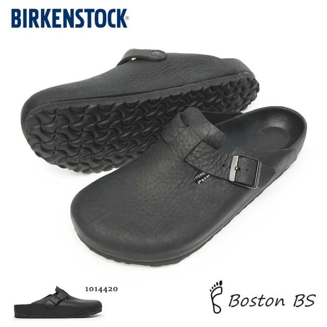ビルケンシュトック メンズ サンダル ボストン BS コンフォート 定番 クロッグ ナチュラルレザー オールブラック Birkenstock Boston BS