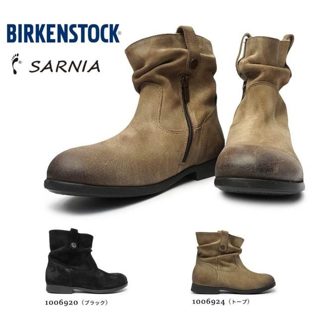 ビルケンシュトック サーニア SARNIA レディース レザー ショートブーツ フラット フットベッド Birkenstock SARNIA 1006920 BLACK 1006924 TAUPE
