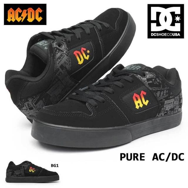 DC スニーカー メンズ DM206104 ピュア ACDC スケボー コラボ TNT スペシャル ロックバンド ストリート スケートボード DC SHOES PURE ACDC ADYS400065 ディーシーシューズ