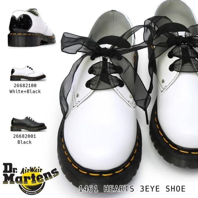 ドクターマーチン 靴 1461 HEARTS 3ホール レディース 正規品 マルチ ハート レザーシューズ Dr.Martens CORE APPLIQUE 1461 HEARTS