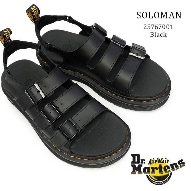 ドクターマーチン サンダル SOLOMAN メンズ レザー 本革 厚底 バックストラップ 甲ベルト Dr.Martens LORSAN SOLOMAN