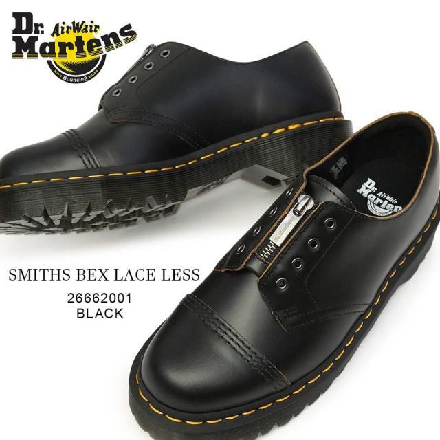 ドクターマーチン SMITHS BEX LL レースレス 4ホール レザー シューズ メンズ レディース ユニセックス 正規品 Dr.Martens CORE BEX SMITHS BEX LACELESS