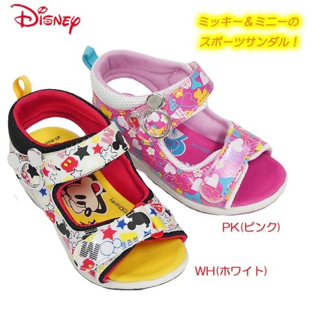 ディズニー ミッキー&ミニー 子供サンダル DN C1120 スポーツサンダル マジック式 ミッキーマウス ミニーマウス Disney Mickey&Minnie