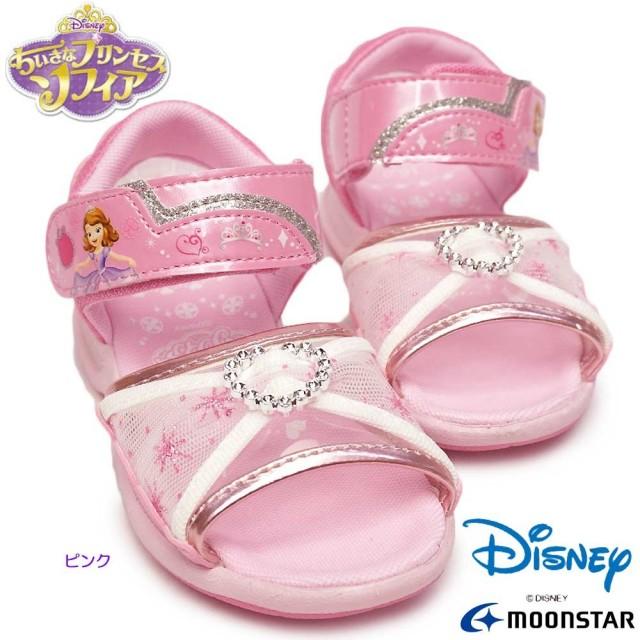 ディズニー プリンセス 靴 DN C1252 小さなプリンセス ソフィア サンダル マジック式 抗菌 防臭 ディズニー映画 子供スニーカー ムーンスター Disney PRINCESS ソフィア MoonStar