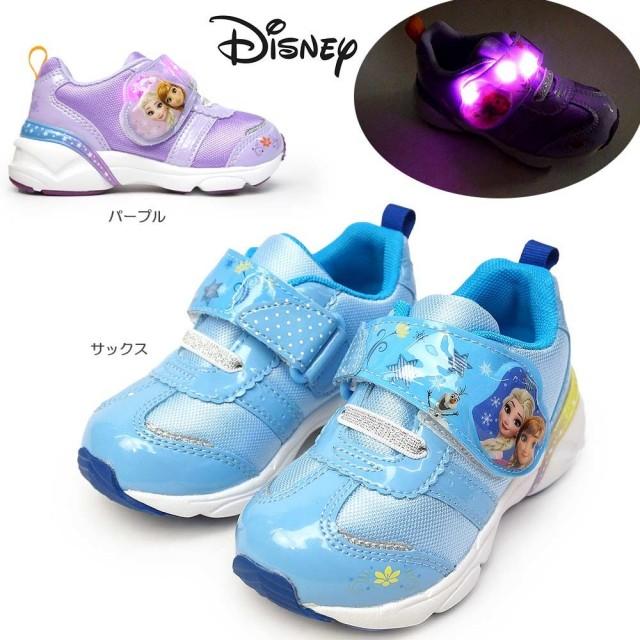 ディズニー プリンセス DN C1261 アナと雪の女王 光る靴 マジック式 抗菌 防臭 ディズニー映画 子供スニーカー ムーンスター MOONSTAR Disney DN C1261